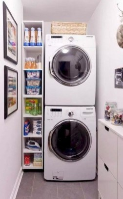 Trend small laundry room design ideas that you can try 35