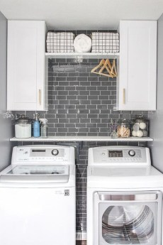 Trend small laundry room design ideas that you can try 49