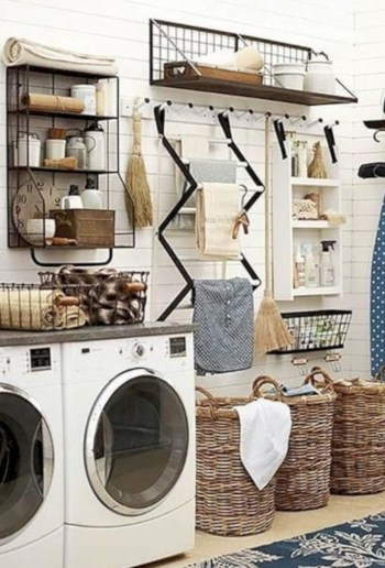 Laundry design ideas with drying room that you must try 08