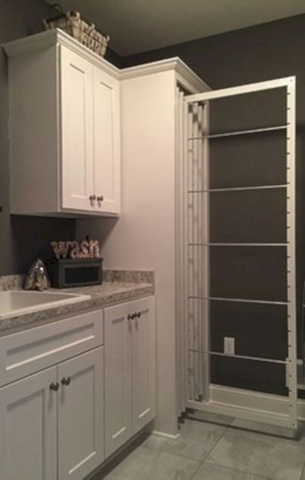Laundry design ideas with drying room that you must try 16