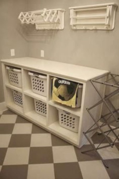 Laundry design ideas with drying room that you must try 39