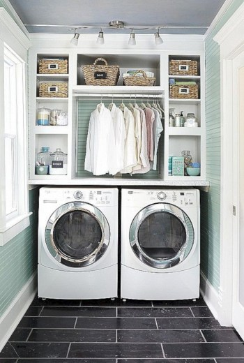 Laundry design ideas with drying room that you must try 40