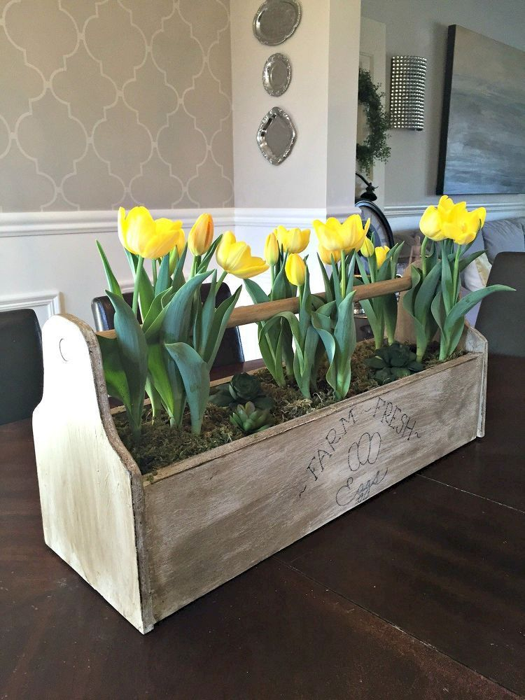 Inspiring wooden box ideas for flower that you can try 08