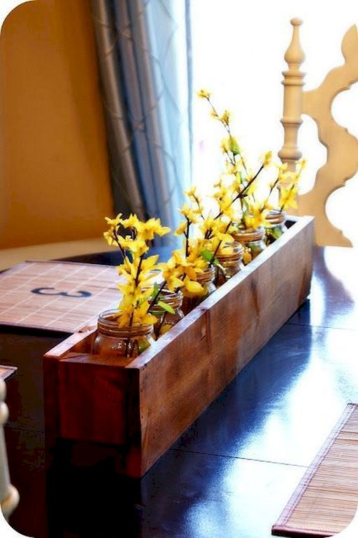 Inspiring wooden box ideas for flower that you can try 43