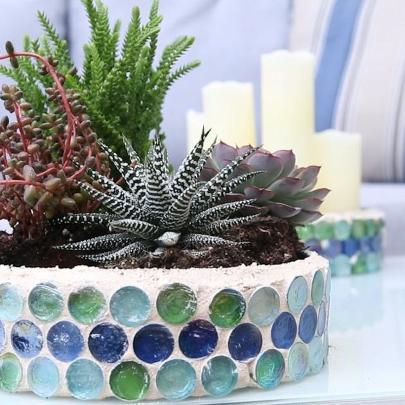 Adorable diy mosaic craft ideas to beautify your home decoration 53