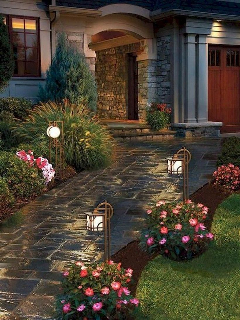 Adorable front yard lighting ideas for your summer night vibe 19