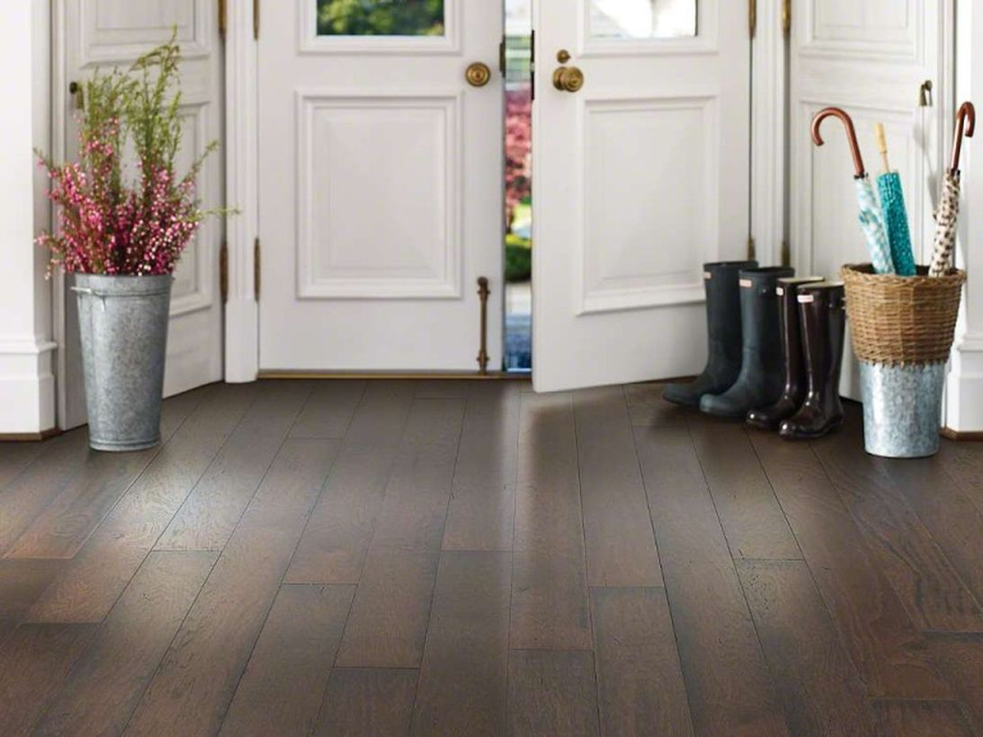 An elegant farmhouse flooring ideas for summer with wildwood hickory the most durable and impact resistant hardwood for your home