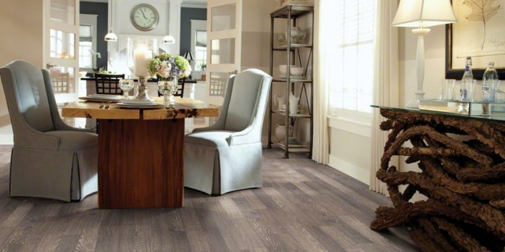 An impressive farmhouse flooring ideas for summer with this laminate floor makes it a good choice for a farmhouse floor to try