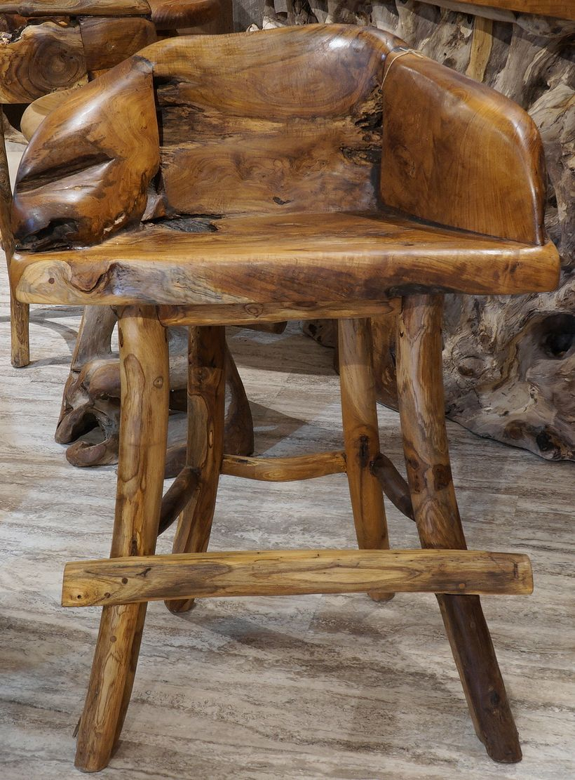 An unique bar stool teak wood furniture for family room you