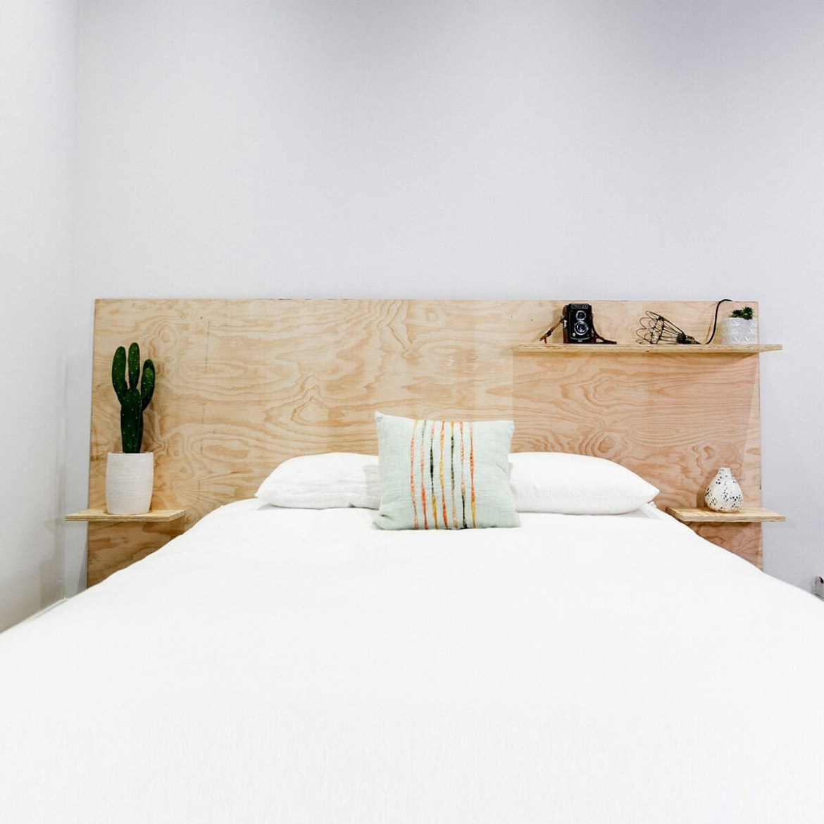 Minimalist plywood furniture head to beautify your room