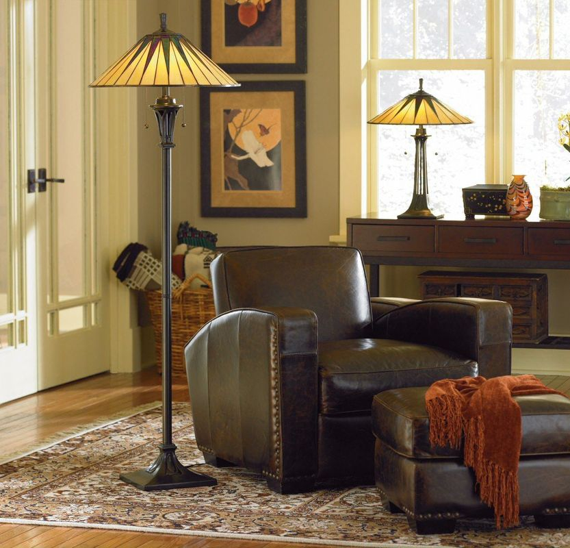 Modern living room lighting design with a floor lamp and a table lamp to beautify your room