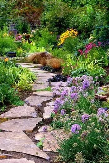 On budget garden walk path ideas for an easy movement around the garden 16