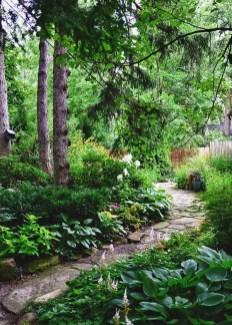 On budget garden walk path ideas for an easy movement around the garden 19