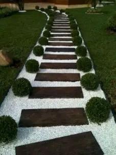 On budget garden walk path ideas for an easy movement around the garden 26