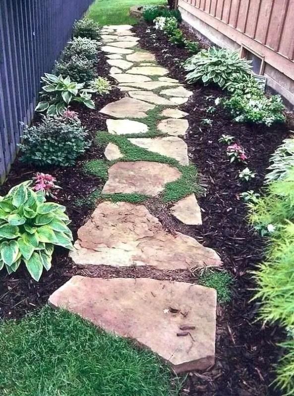 On budget garden walk path ideas for an easy movement around the garden 60