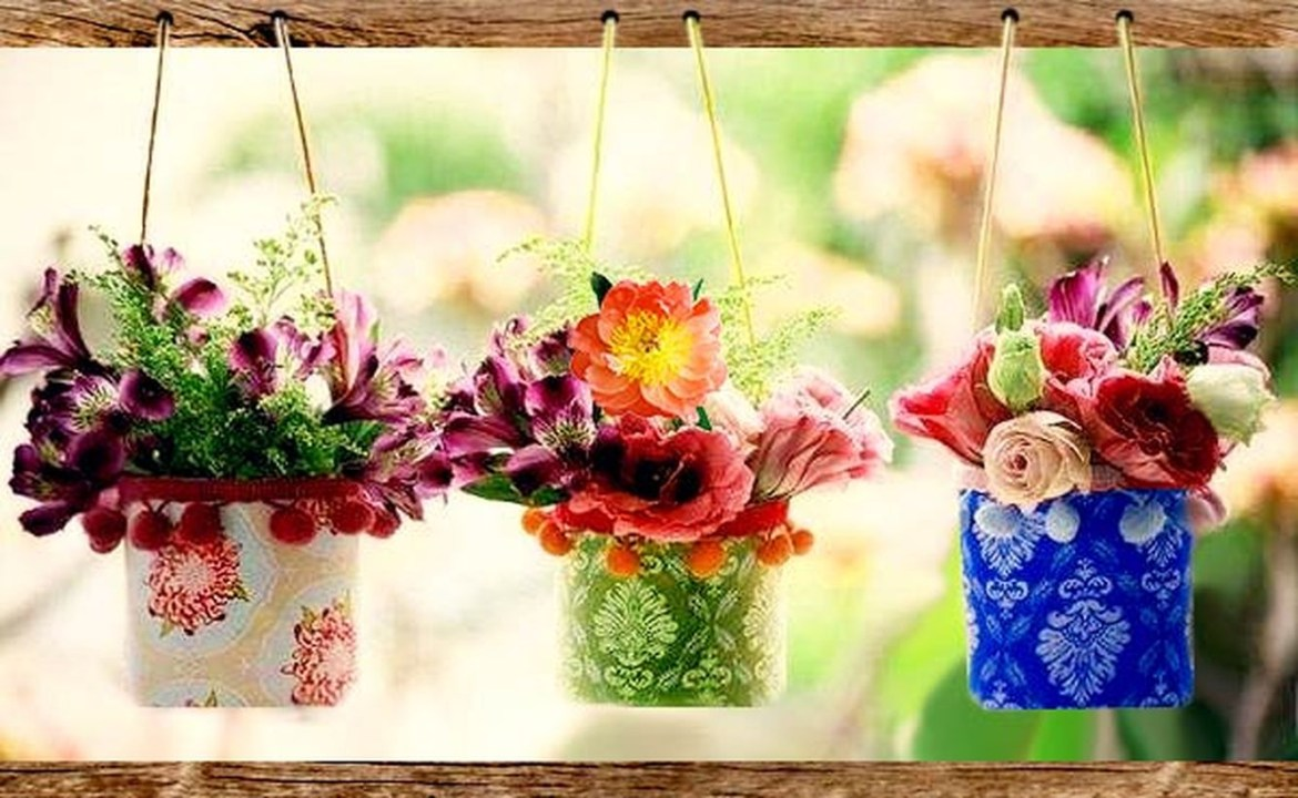 Simple diy plastic bottle hanging vase ideas with square shape, boho color to create more beauty