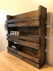 Wooden rack ideas to be applied into any home styles for a warmer room impression 06