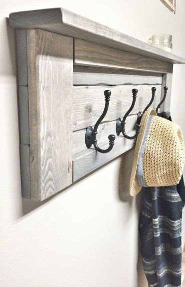 Wooden rack ideas to be applied into any home styles for a warmer room impression 08