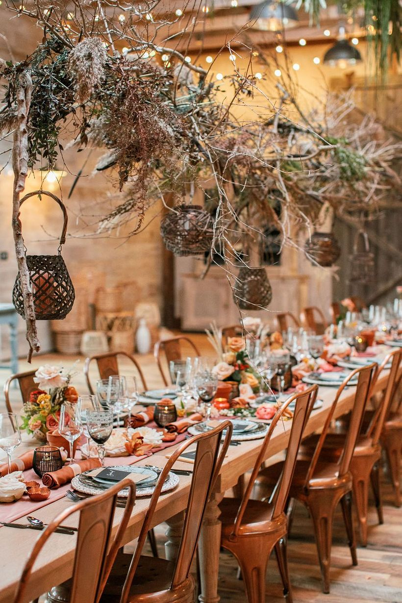 A magnificent indoor venue for fall wedding with terrain gardens at devon yard ts horticultural setting and lush greenery all of which can be used for a variety of wedding styles.