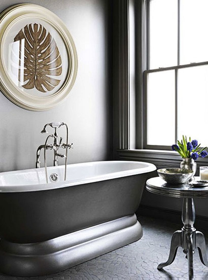 Best coral gray color in the bathroom to make your room more elegant