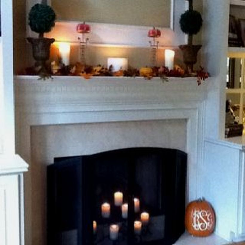 Candle light fireplace decoration ideas