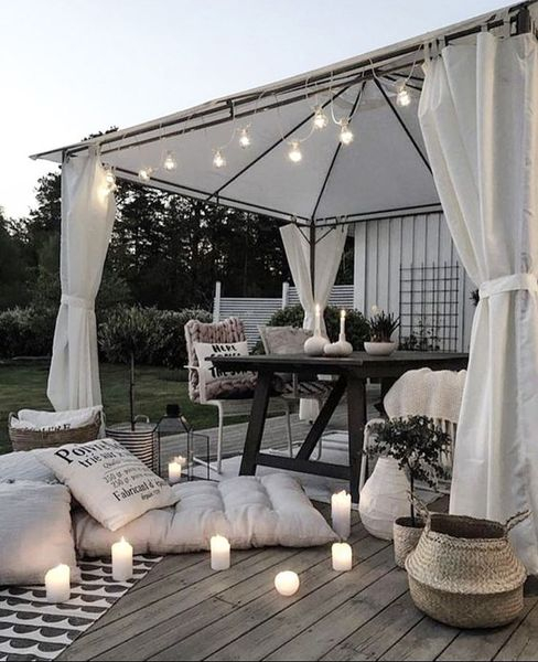 Candle lights for beautiful porch