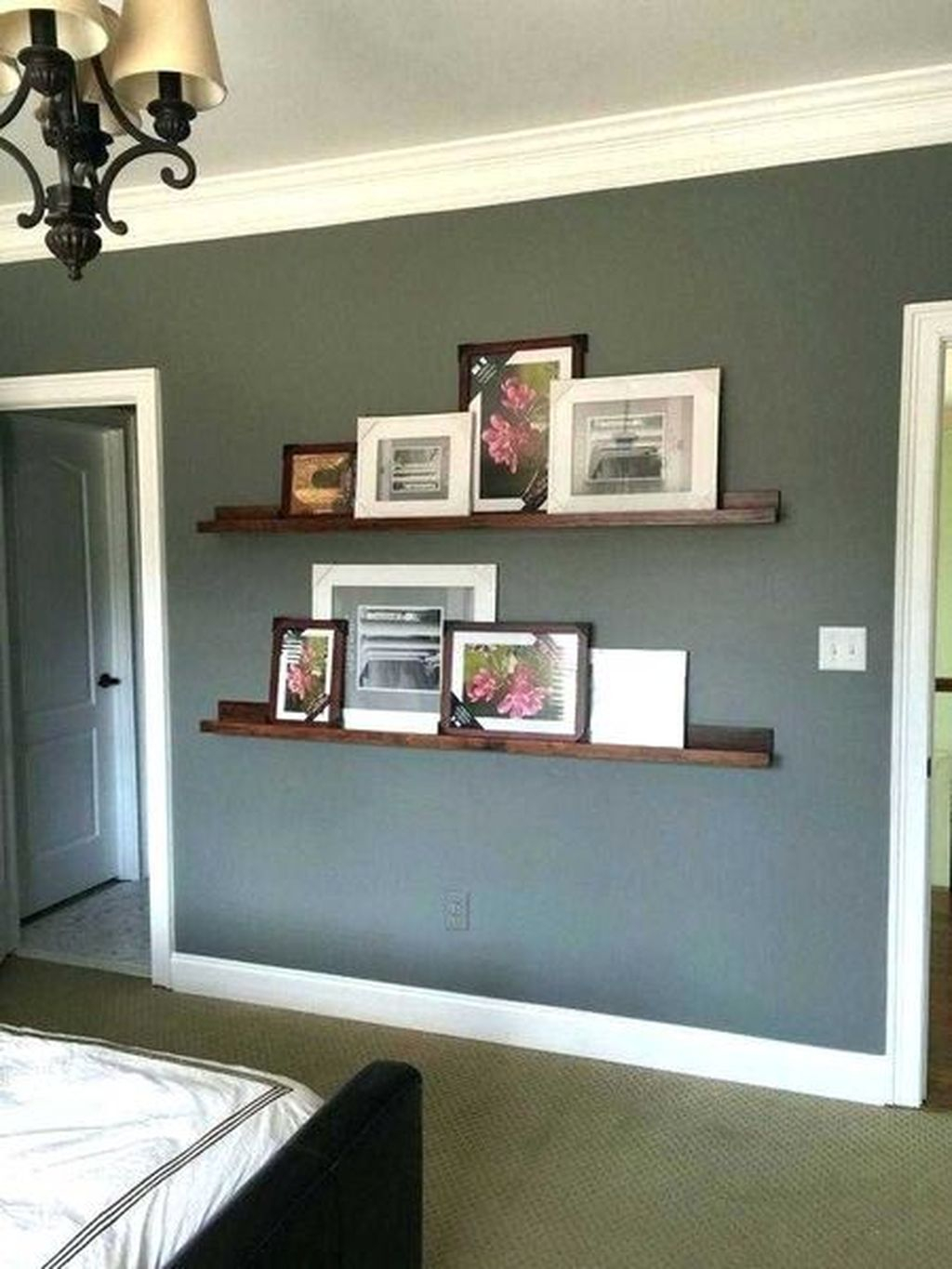 Creative diy shelves on the walls for teen girl bedroom to complete your bedroom storage