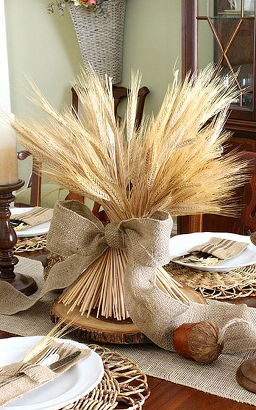 Creative wheat plants decoration ideas