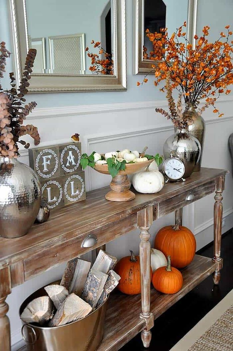 Decorate your entry console table.