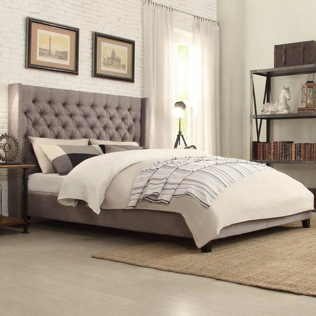 Grey headboard to perfect your bedroom