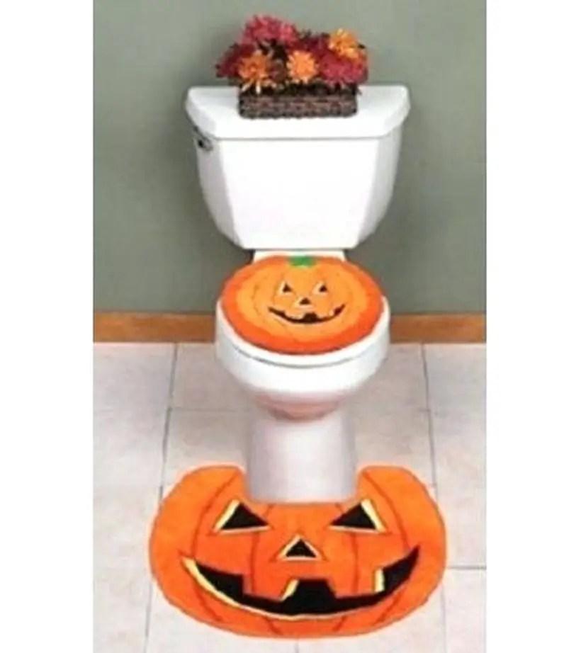 Lantern pumpkin rug set