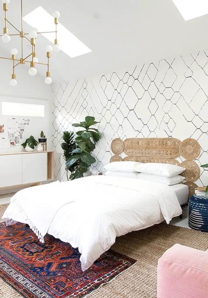 Light gery headboard for bedroom