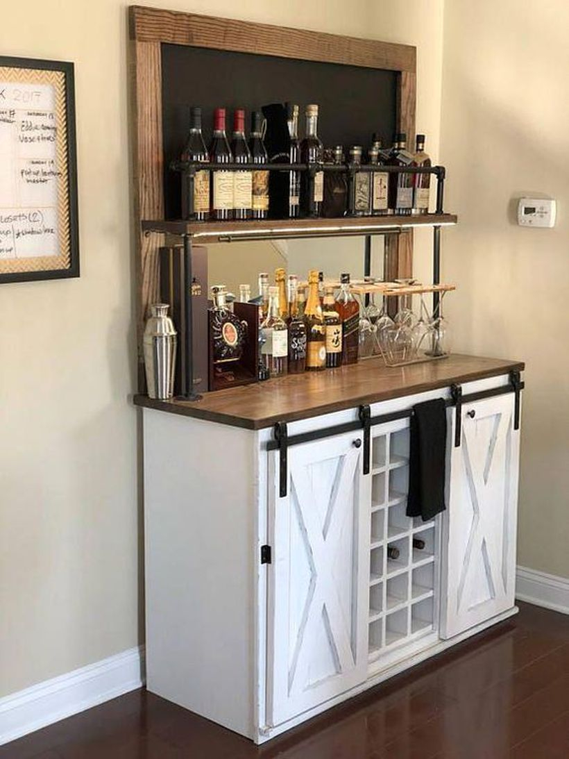 Weston chalkboard beverage bar