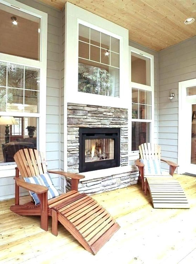 Wooden chairs fireplace decoration ideas