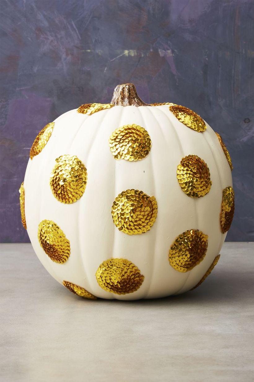 A creative diy fall ornaments with polka dot pumpkin to create beauty