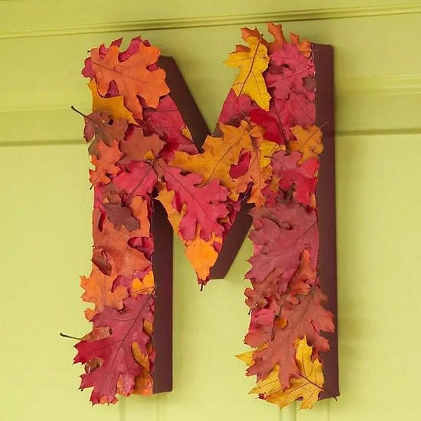 Best autumn leaves craft alphabet shape