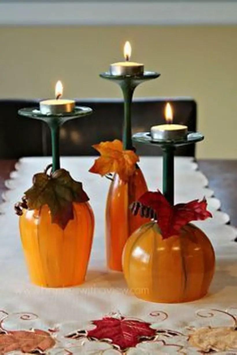 Creative pumpkins candle holder