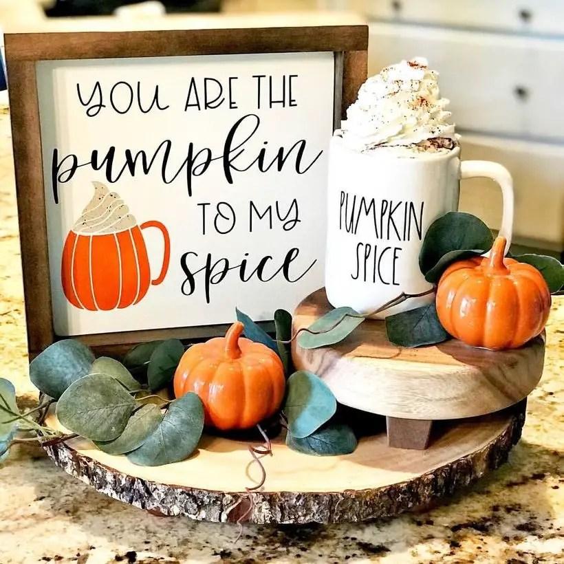 Pumpkins and wooden beam