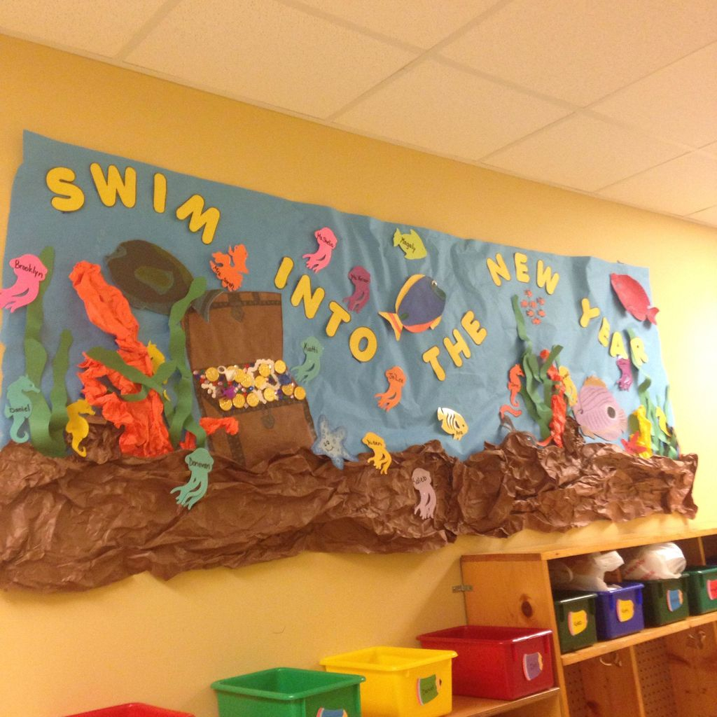 Scenery in the sea for classroom board display