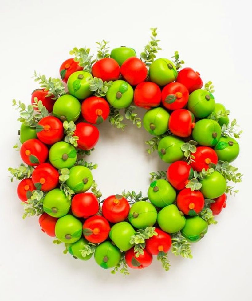Unique diy fall ornaments with apple wreath you must try