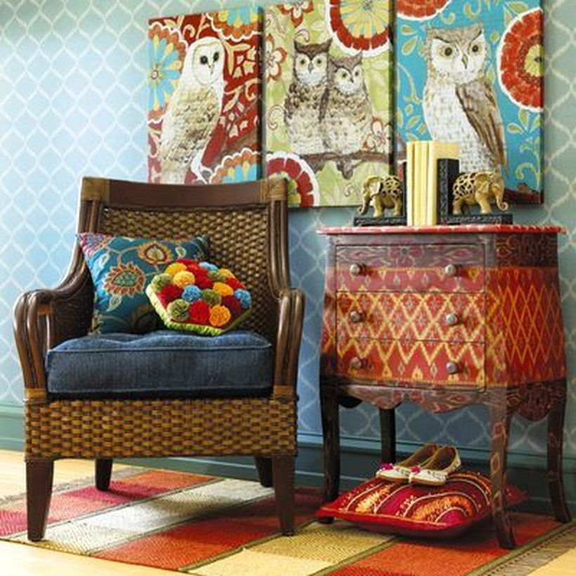 A captivating furniture for bohemian home decorating with temani brown wicker cabinet features a sturdy mahogany and pine wood frame, wrapped in natural rattan woven with a lacquer finishing touch.