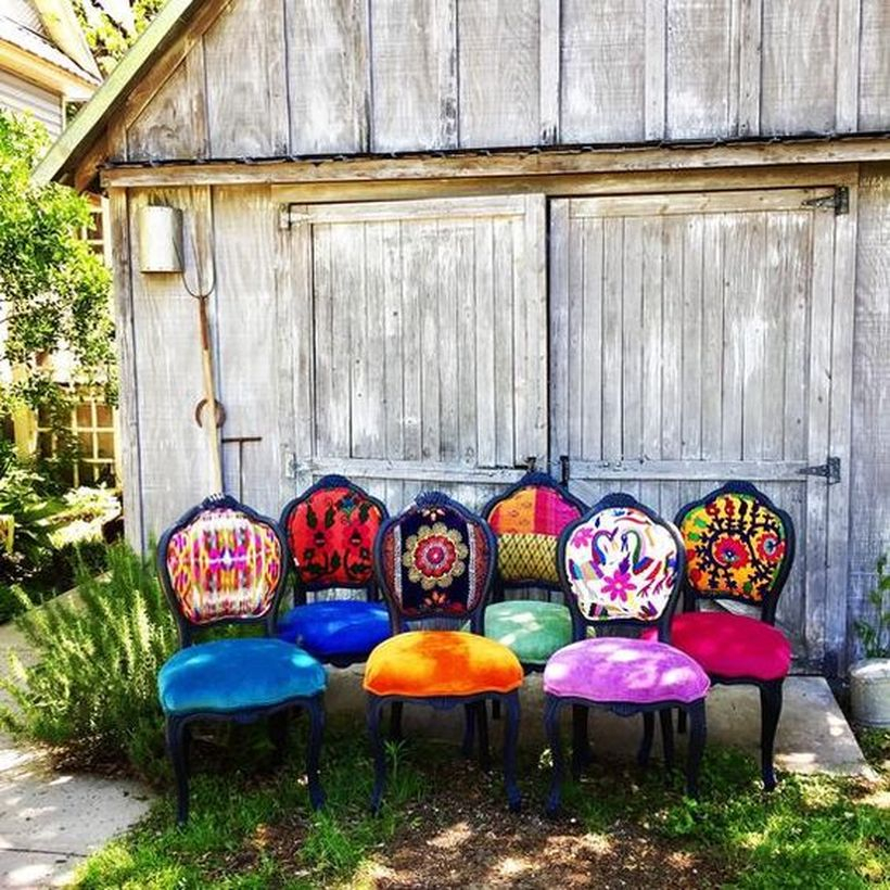 A magnificent furniture for bohemian home decorating with a set of eclectic boho chairs but you can describe what you want and adjust it.