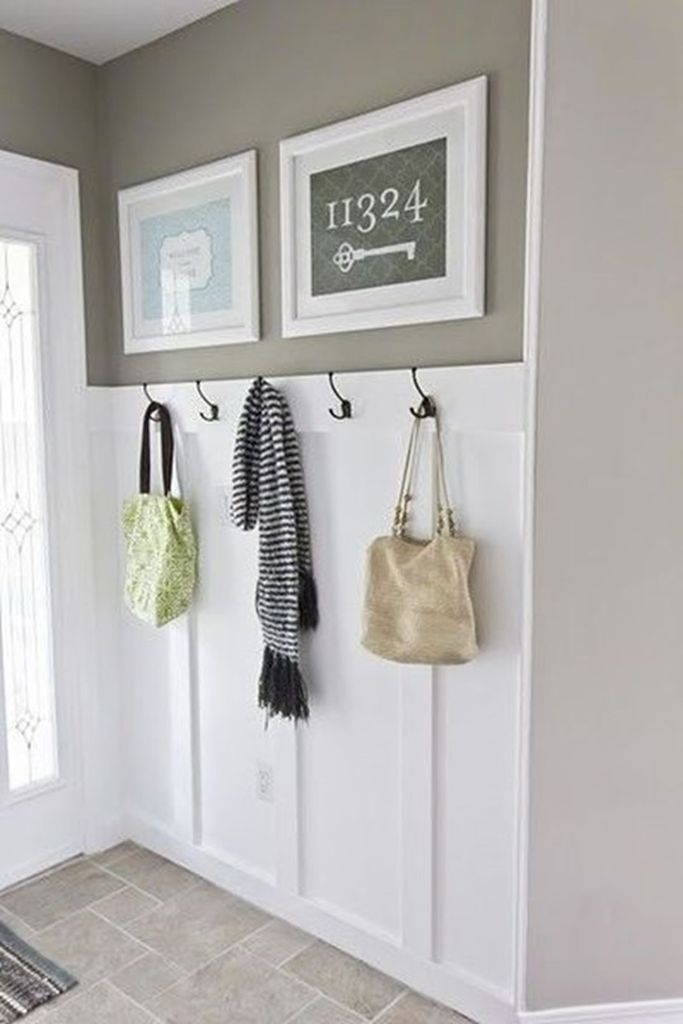 An amazing hooks on the walls to keep all your coats, bags, backpacks to perfect your entryways