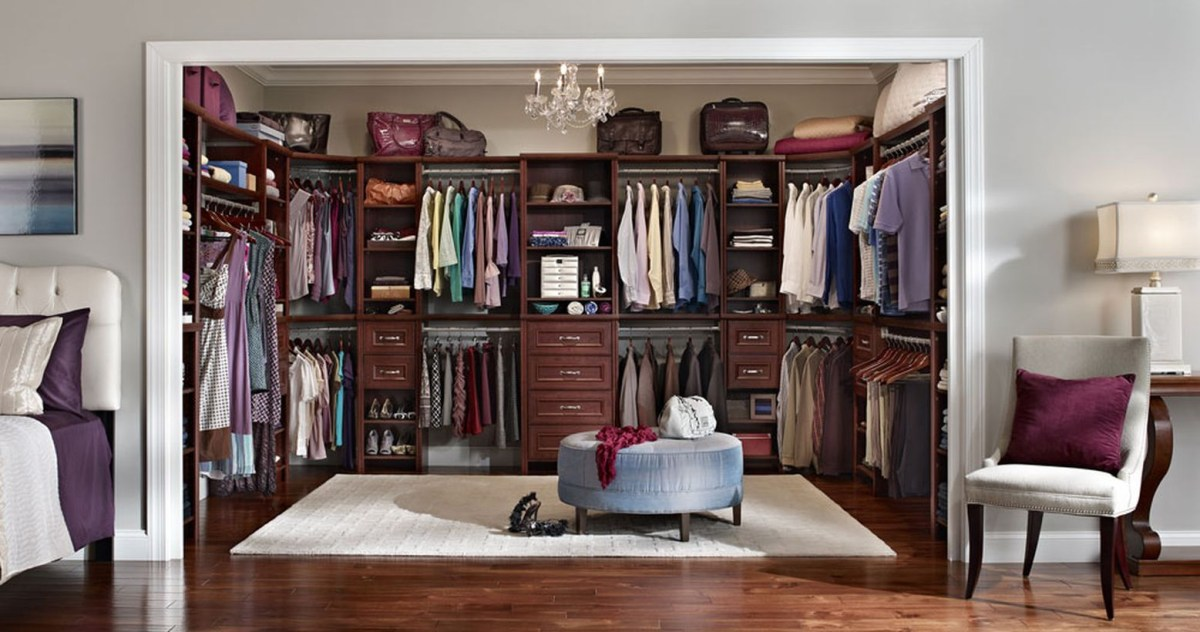 An incredible master bedroom wardrobe.