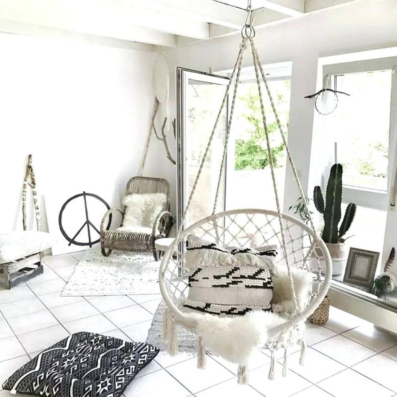 Boho hanging lounge chair aldi macrame.