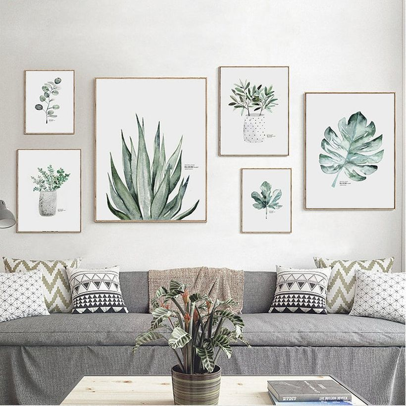 Cheap art work with canvas art for your living room you must try