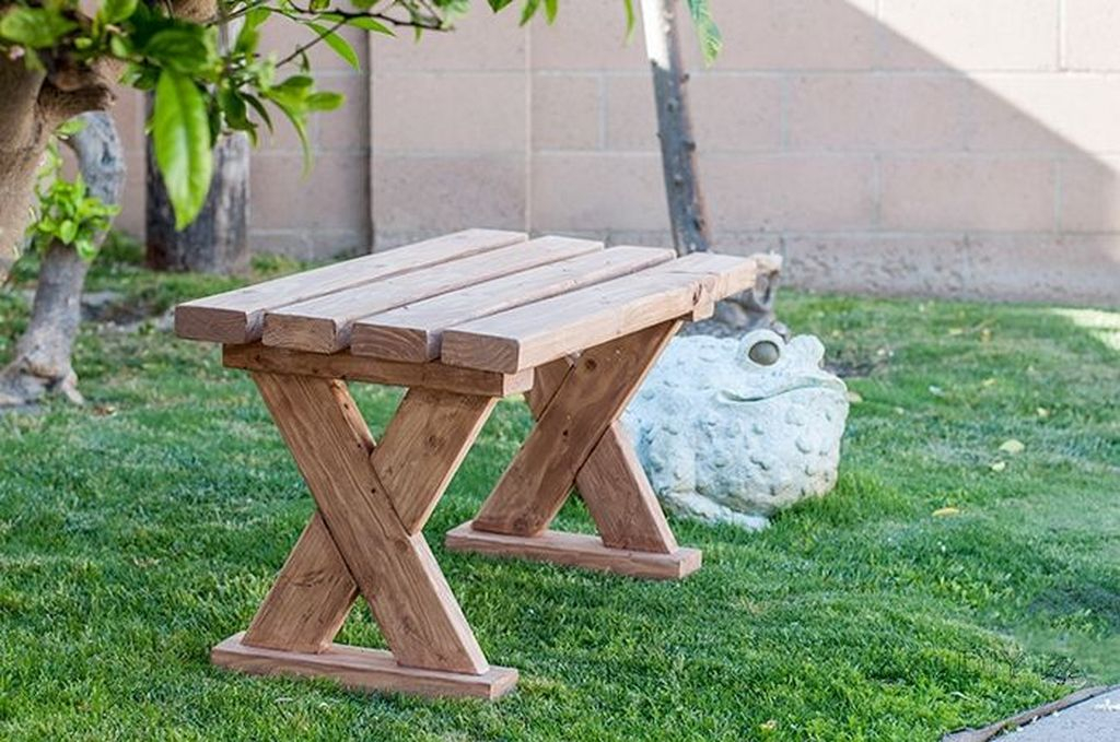 Crattive diy wooden bench