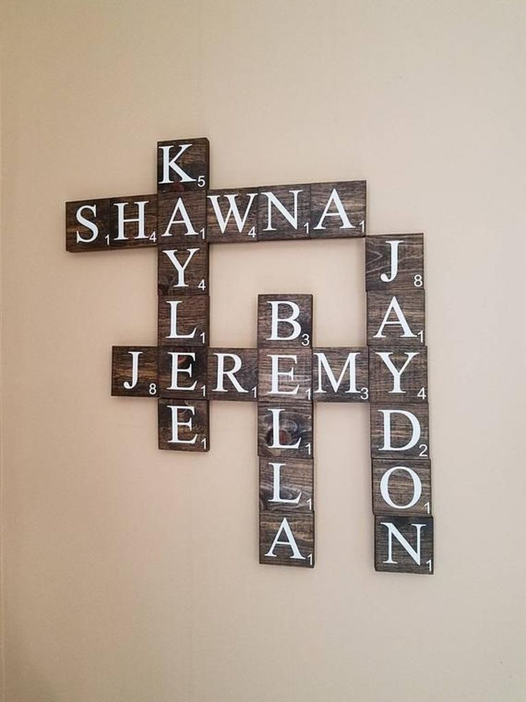 Cross word for wall decoration