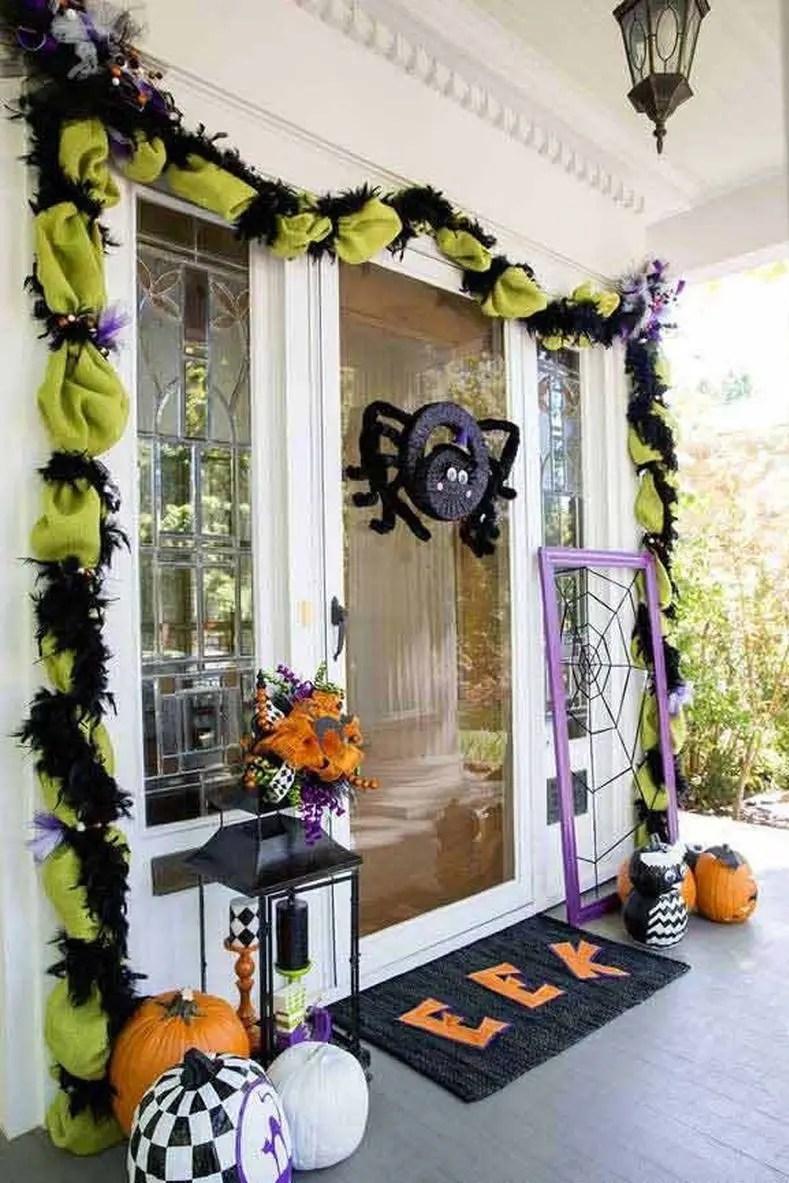 Cute halloween spider door decoration