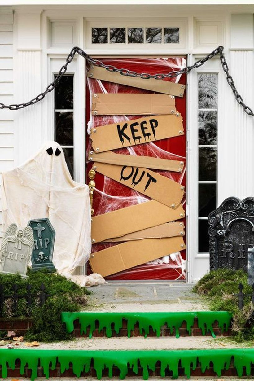 Keep out door decoration